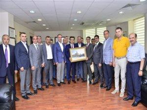 Vali Güzeloğlu'dan, DTSO'ya  ziyaret