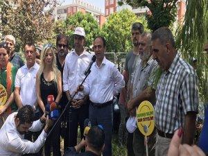 CHP heyetinden HDP'nin nöbetine ziyaret