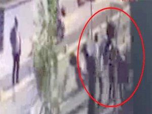 Büyükerşen'e saldırı girişimi güvenlik kamerasına yansıdı
