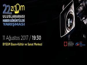Zoom Uluslararası Haber Görüntüleri Yarışması ödül töreni BYEGM'de