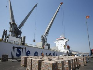 Gıda yüklü ikinci gemi Katar yolcusu