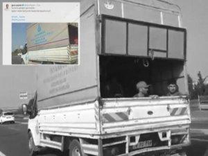HDP'li Paylan'dan İBB'ye 'suç üstü': İşçiler belediyeye ait kamyonet kasasında