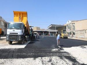 Meyve ve Sebze Hali yerleşkesi asfaltlandı