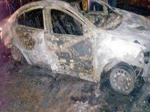 Gasp edilen otomobil, yakılmış bulundu