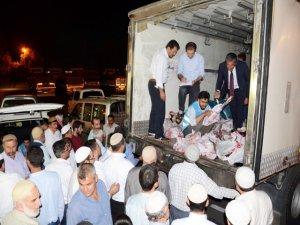 TDV'den Nusaybin'de kurban eti dağıtımı