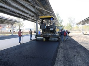 Otogar yerleşkesi asfaltlandı