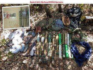 Mağaralar içerisinde silah ve mühimmat bulundu