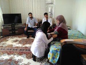 Yardıma muhtaç ailelere ziyaret