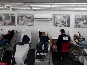 Ergani'de Kızılay'a kan bağışı