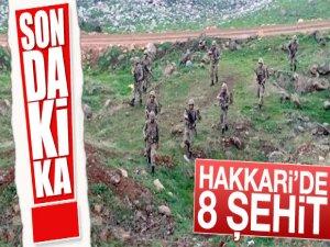 Hakkari'de çatışma: 8 şehit