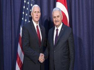 Başbakan Yıldırım, ABD Başkan Yardımcısı Pence ile bugün görüşecek