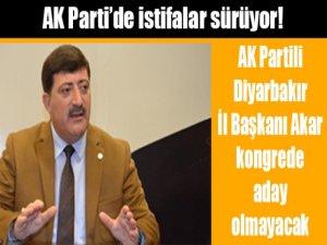 AK Partili Diyarbakır İl Başkanı Akar görevini bırakıyor