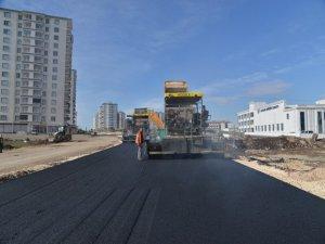 Baba Tahir Caddesi asfaltlanıyor