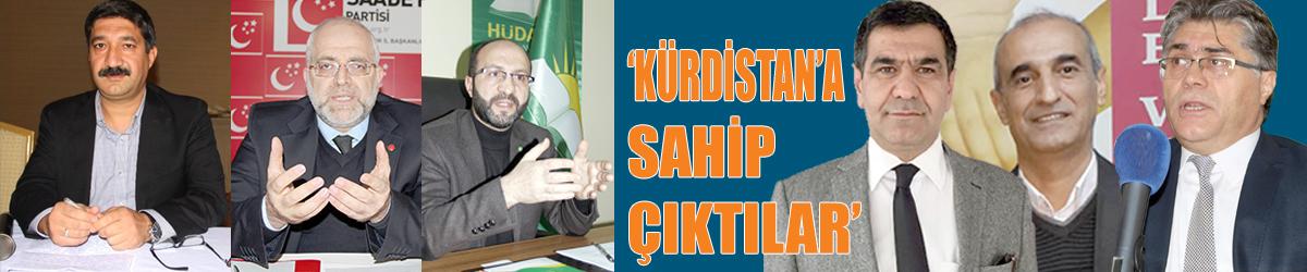 'Kürdistan'a sahip çıktılar!