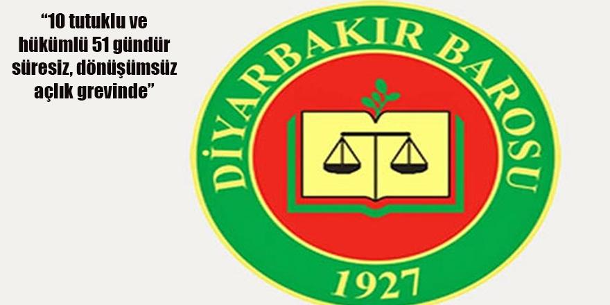 Diyarbakır Barosu: Elazığ Cezaevi'nde 51 gündür açlık grevi yapılıyor