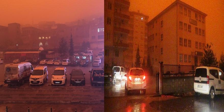 Mardin ve Diyarbakır toz bulutu altında