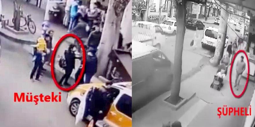 Bebek arabasıyla yürüyen kadının boynundan kolyesini aldı