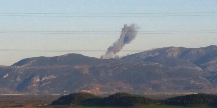 Savaş uçakları Afrin'i vuruyor!