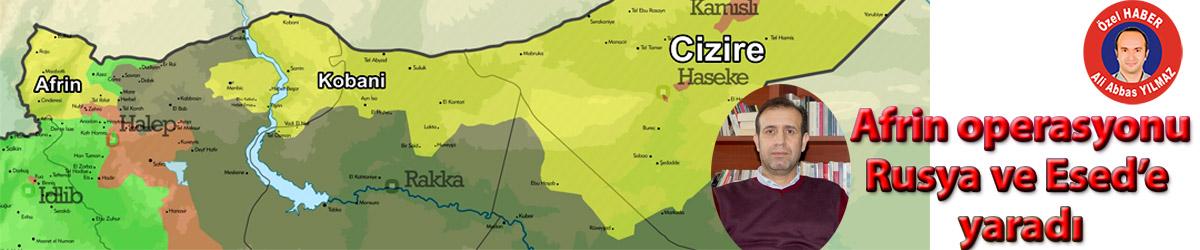 Afrin operasyonu Rusya ve Esed'e yaradı