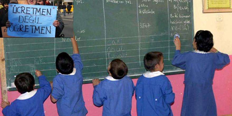 Ücretli öğretmenlerin üçte ikisi öğretmen değil