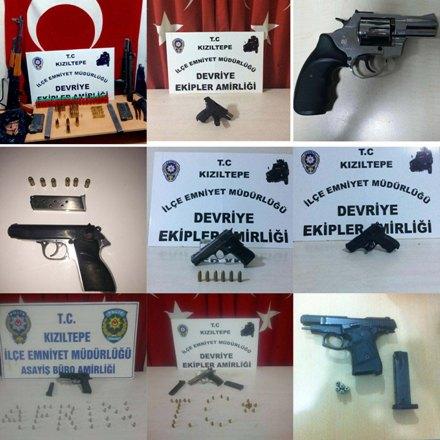 ABD ve İtalyan menşeli tabancalar ele geçirildi
