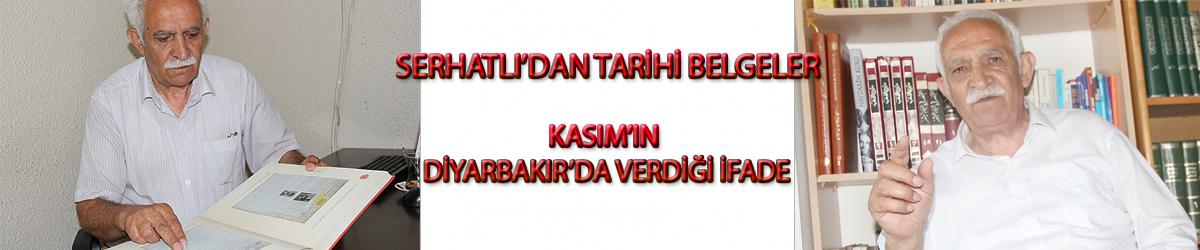 Kasım'ın Diyarbakır'da verdiği ifade