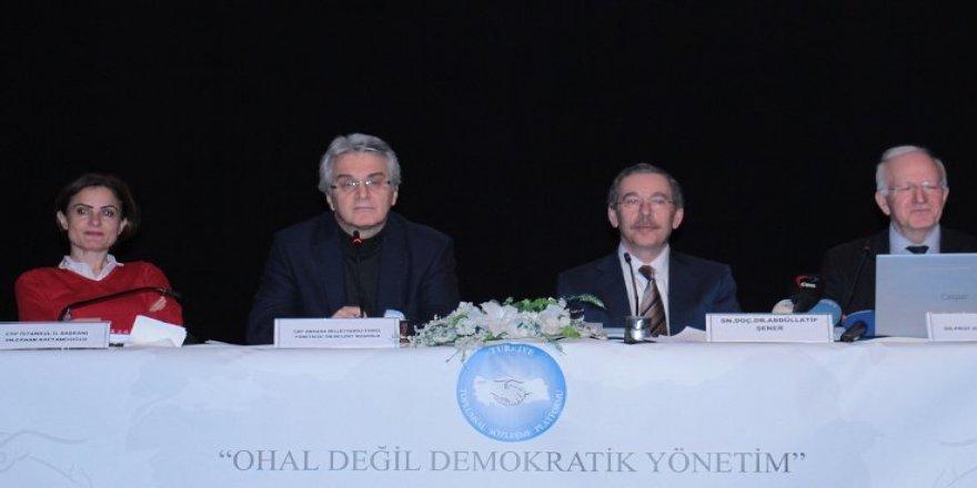 CHP: OHAL değil demokratik yönetim