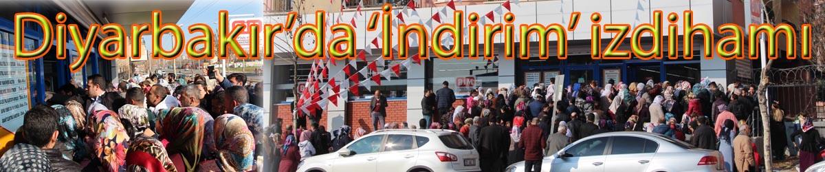 Diyarbakır'da 'İndirim' izdihamı
