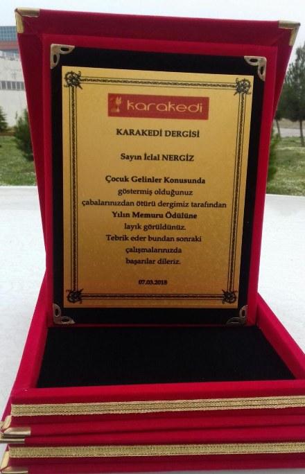 '115 hamile çocuk' skandalını ortaya çıkaran İclal Nergiz'e 'yılın memuru' ödülü