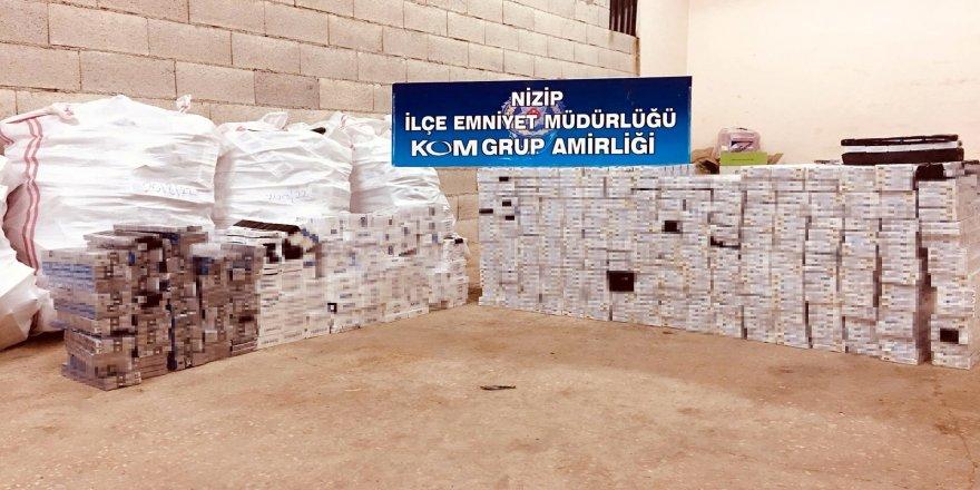 Nizip'te 5 bin paket kaçak sigara ele geçti
