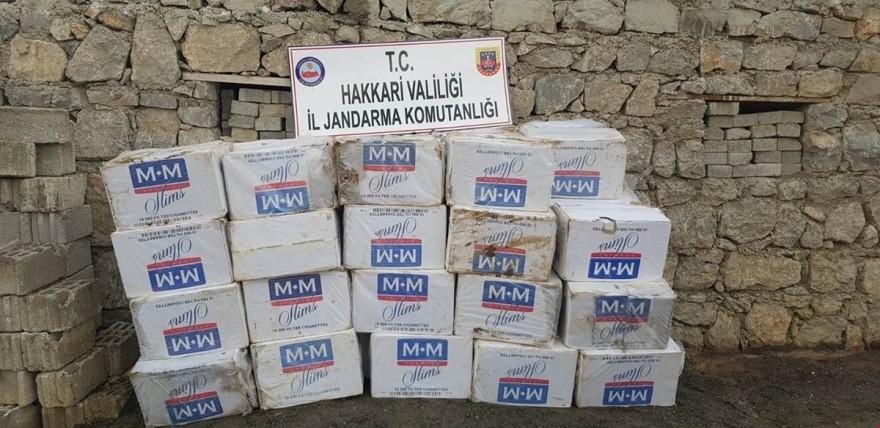 46 bin 500 paket kaçak sigara ele geçirildi