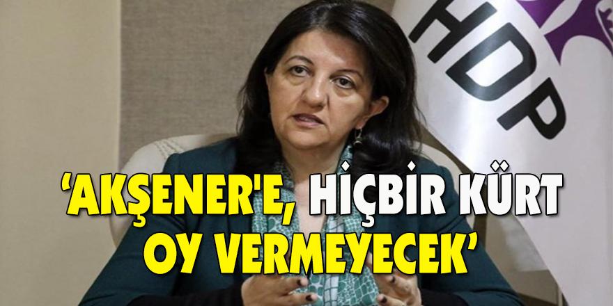 'Akşener'e, hiçbir Kürt oy vermeyecek'