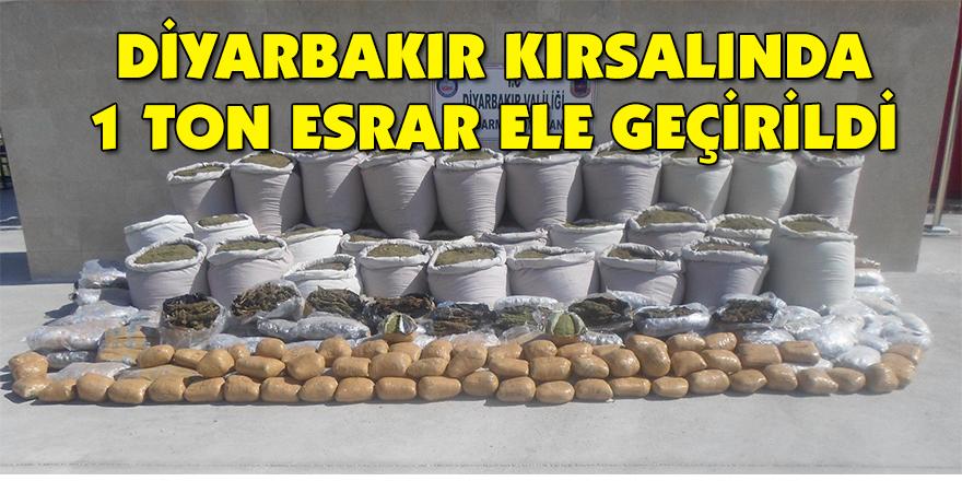 Diyarbakır kırsalında 1 ton esrar ele geçirildi