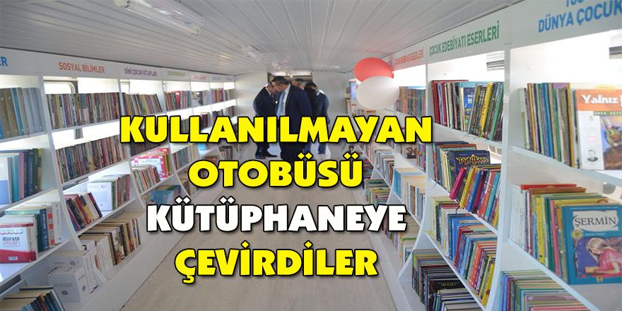 Kullanılmayan otobüsü kütüphaneye çevirdiler
