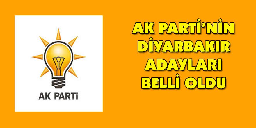 AK Parti'nin Diyarbakır adayları belli oldu