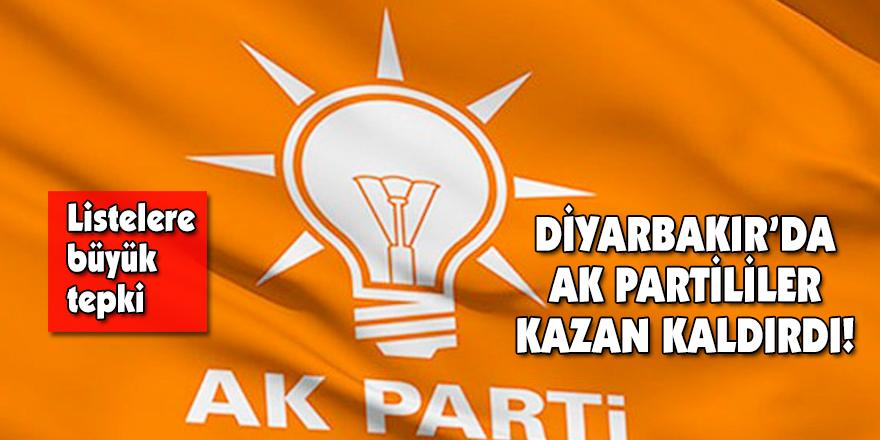 DİYARBAKIR'DA AK PARTİLİLER KAZAN KALDIRDI!