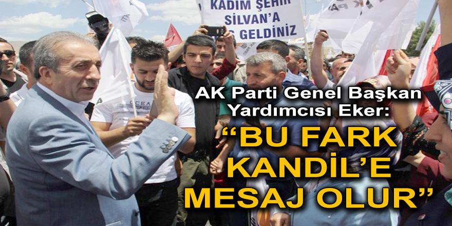 """AK Parti Genel Başkan Yardımcısı Eker:  """"BU FARK KANDİL'E MESAJ OLUR"""""""