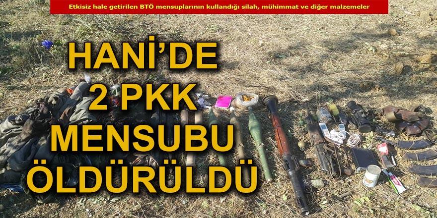 Hani'de şehit askerin faili 2 PKK'li öldürüldü