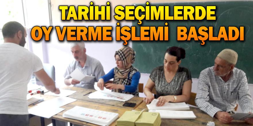 Tarihi seçimlerde oy verme işlemi başladı