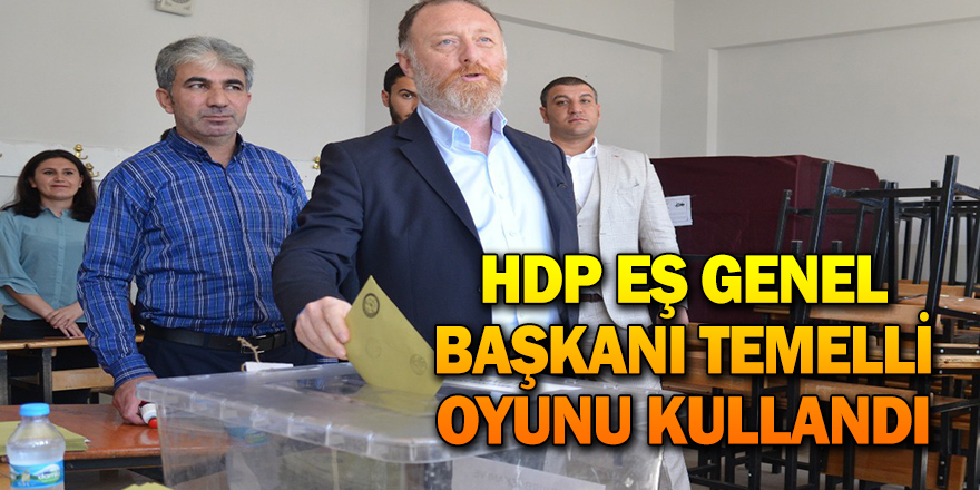 HDP EŞ GENEL BAŞKANI TEMELLİ OYUNU KULLANDI