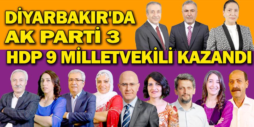 Diyarbakır'da HDP 9, AK Parti 3 milletvekili kazandı
