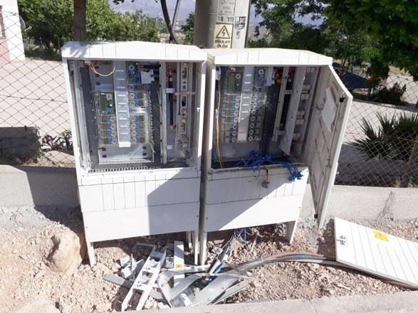 Kaçak elektrik kullanımı önleyen panolar tahrip edildi