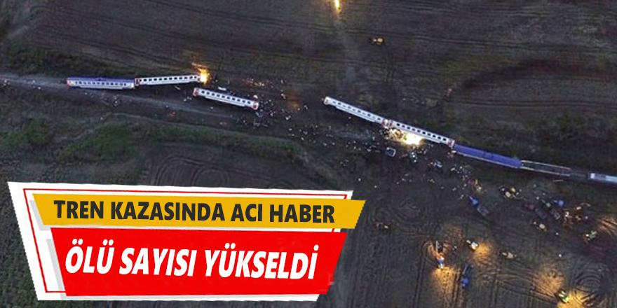 Tren kazasıyla ilgili flaş gelişme! Ölü sayısı arttı