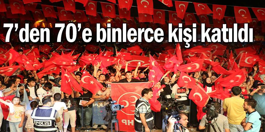 Diyarbakır 15 Temmuz'da meydandaydı