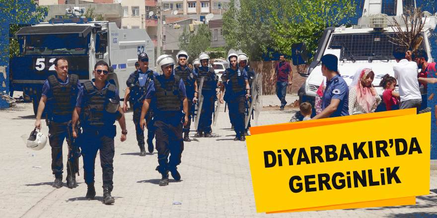 Diyarbakır'da Elektrik Hatlarının Yenilenmesi Sırasında Gerginlik