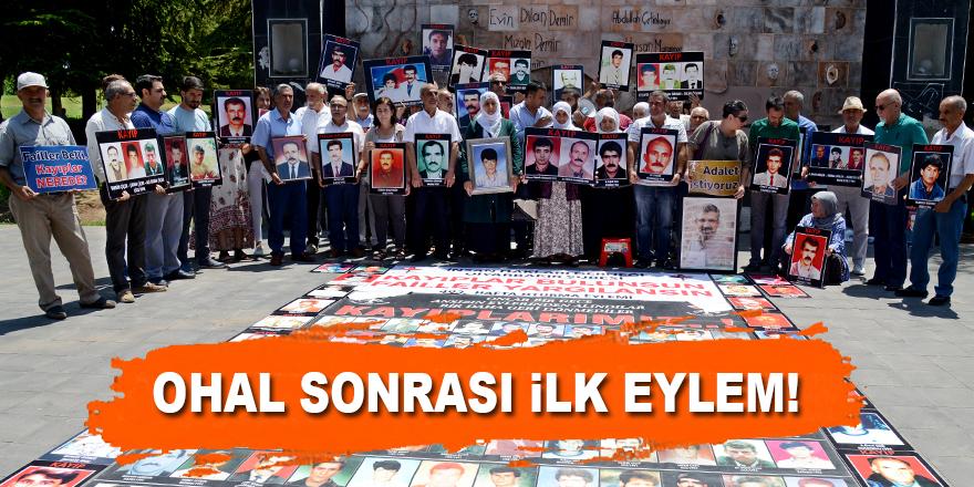 Diyarbakır'da OHAL sonrası ilk eylem!