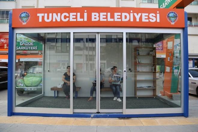 Tunceli'de klimalı, kitaplı durak dönemi