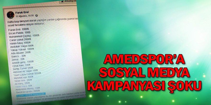 Amedspor'a Sosyal Medya Kampanyası Şoku