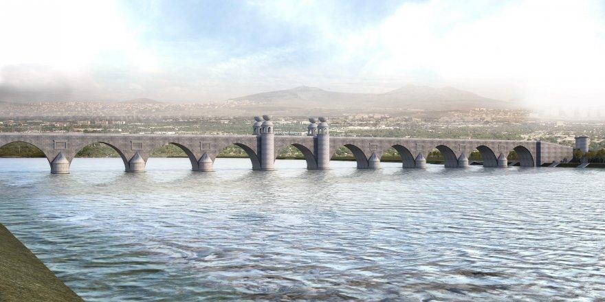 Dicle'nin iki yakası, 327 metrelik taş köprüyle bağlanacak