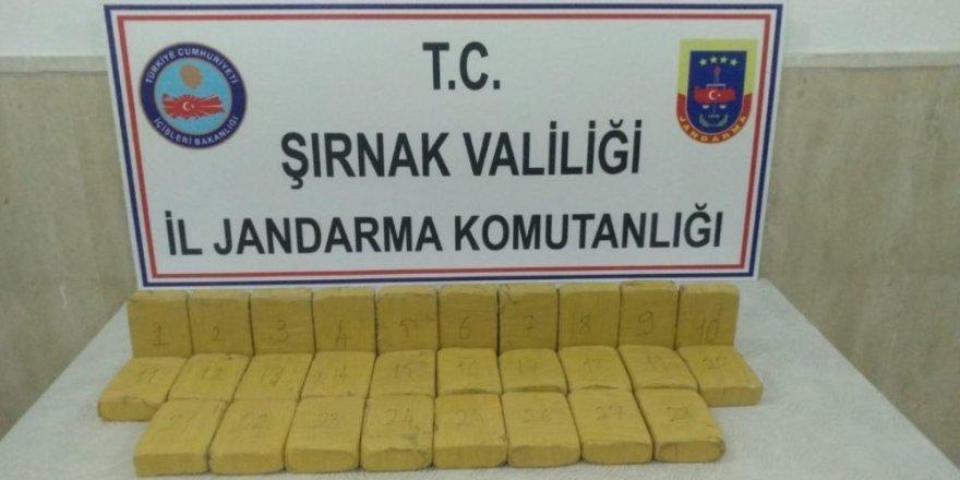 Şırnak'ta 14 Kilo 400 Gram Eroin Maddesi Ele Geçirildi
